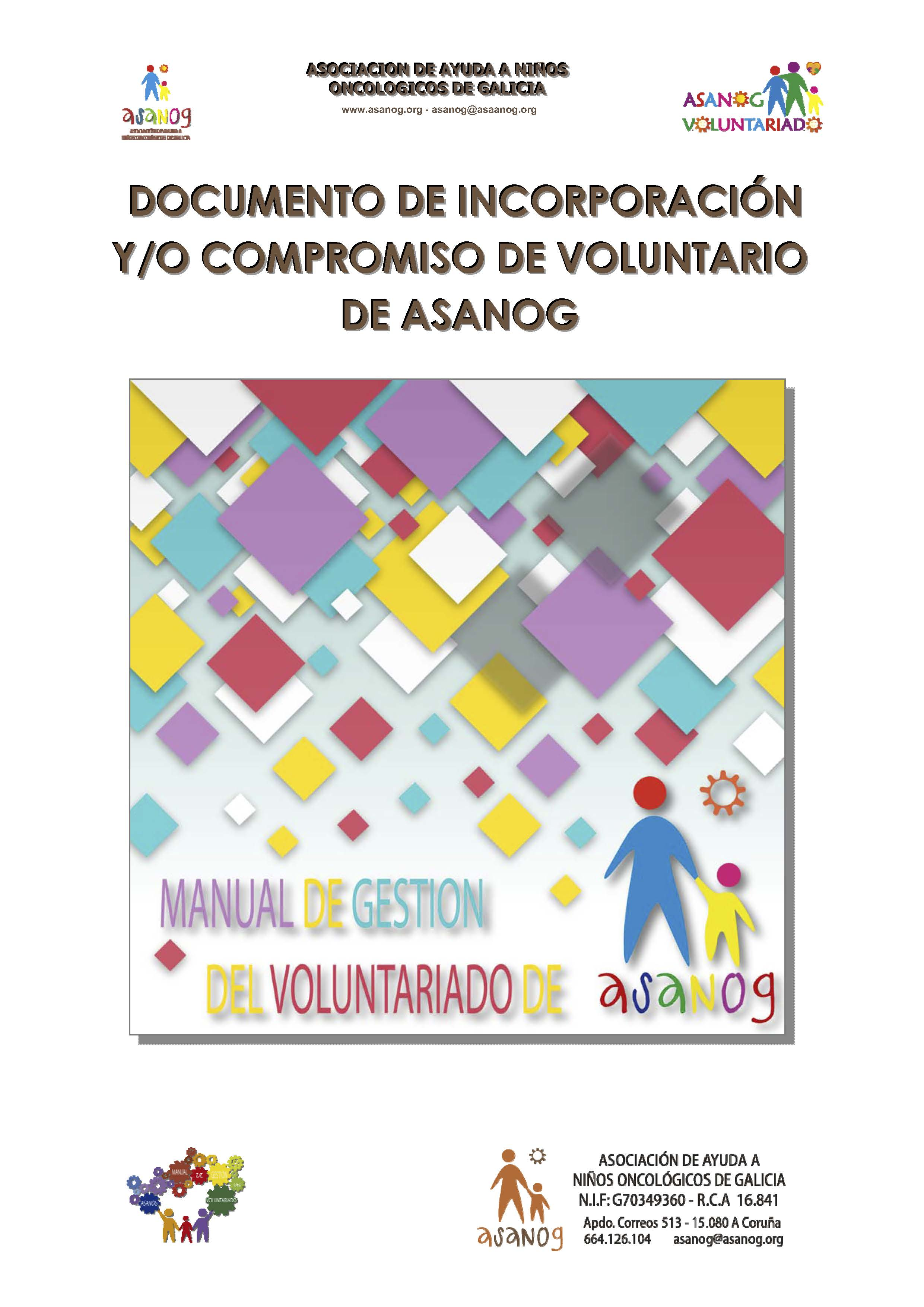 PORTADA MANUAL GESTION VOLUNTARIADO ASANOG COMPROMISO