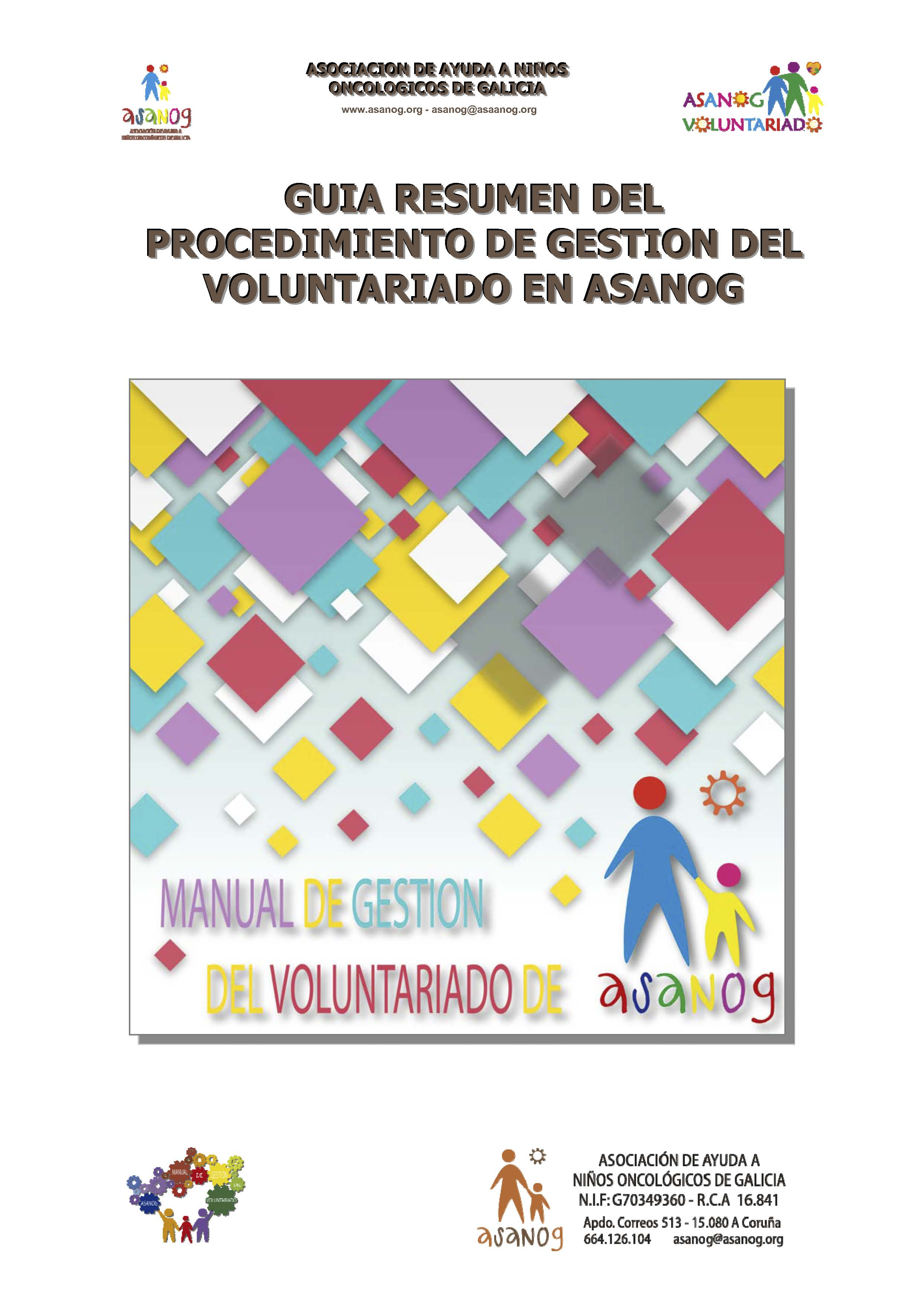PORTADA MANUAL GESTION VOLUNTARIADO ASANOG PROCEDIMIENTO